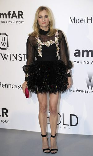 Diane Kruger convertida en avestruz