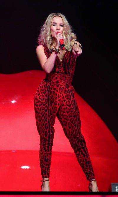 Kylie Minogue presume de un 'total animal print'