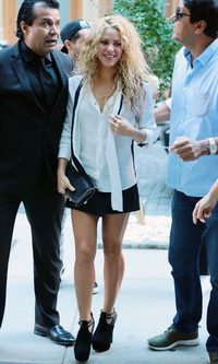 Shakira, una minifaldera en Nueva York
