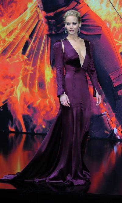 Jennifer Lawrence, escotazo pero sin acierto de Dior
