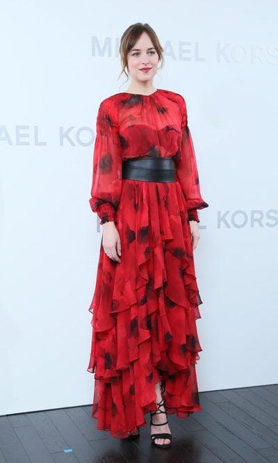 Dakota Johnson, un vestido muy flamenco