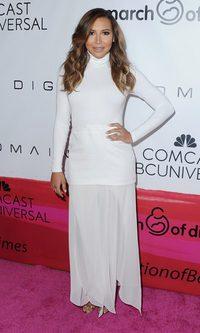 Naya Rivera no convence con su estilismo total white