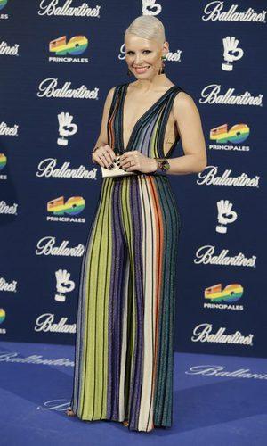 Soraya Arnelas, radiante con su mono multicolor