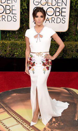 Eva Longoria deslumbra en los Globos de Oro