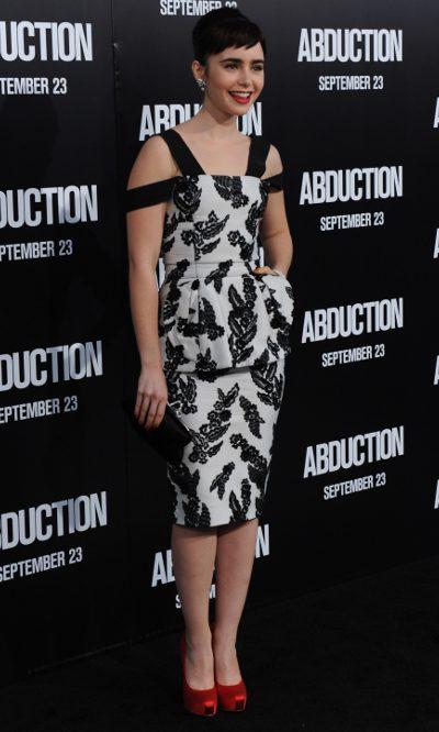 Lily Collins, look Audrey Hepburn de Marc Jacobs