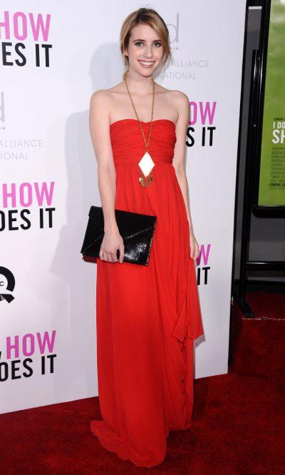 Emma Roberts, première de Tibi