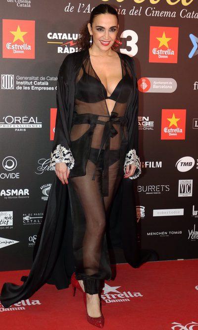 Cristina Rodriguez, en camisón y a lo loco