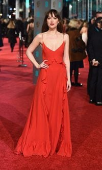 Dakota Johnson y su Dior flamenco