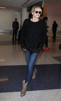 Sharon Stone, comodidad ante todo para viajar