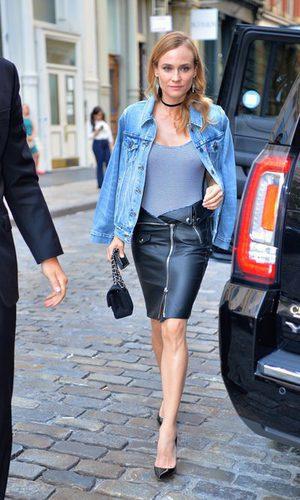 Diane Kruger con un estilo denim sexy