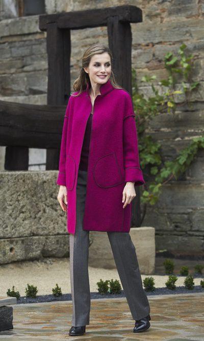 La Reina Letizia, look otoñal y chic