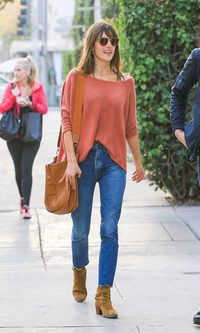 Alessandra Ambrosio, look denim