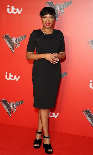 Jennifer Hudson, look total black
