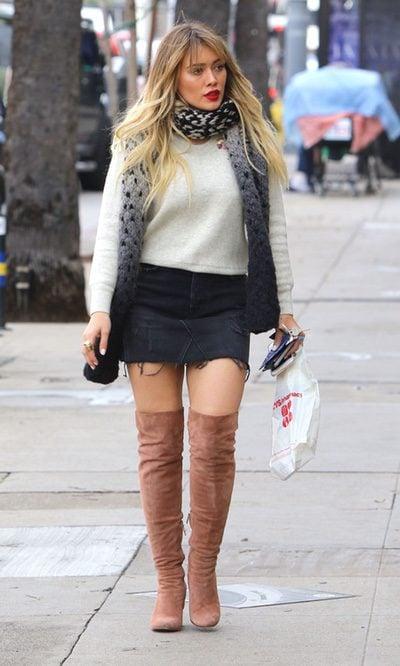 Hilary Duff apuesta por las 'legging boots'