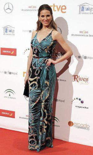 Vanesa Romero y su look colorido