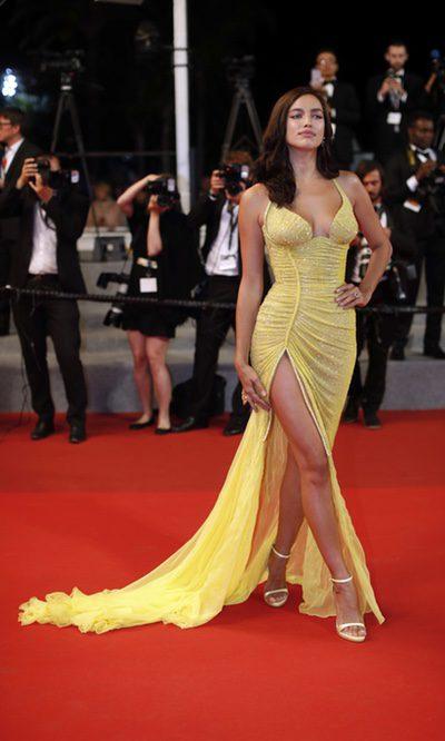 Irina Shayk reaparece deslumbrante en Cannes