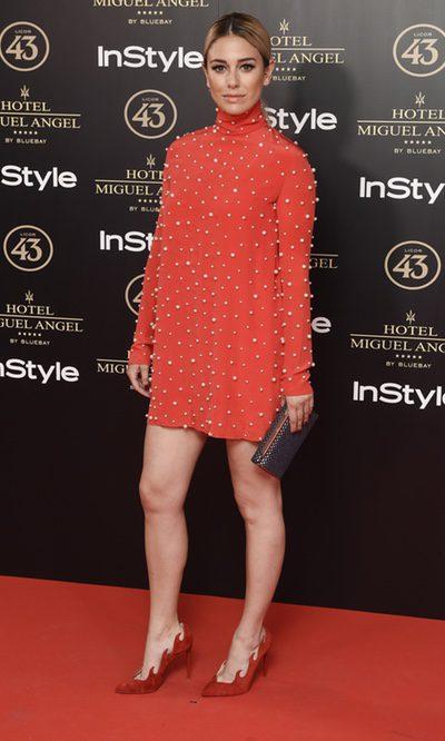 Blanca Suárez luce un vestido con aplicaciones de perlas