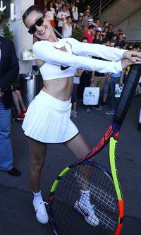 El look más deportivo de Bella Hadid