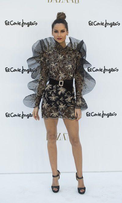 Ariadne Artiles increíble con vestido de volantes