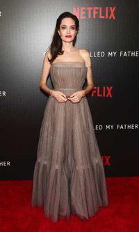El vestido plisado Dior de Angelina Jolie