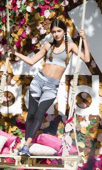 Lucía Rivera Romero luce un look perfecto para ir al gimnasio