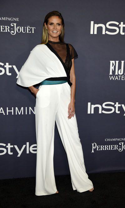 Heidi Klum arriesga con un look muy insólito