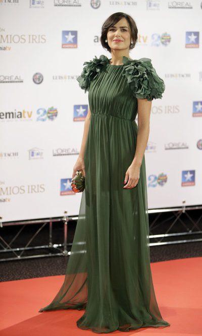 Elena Sánchez con hombreras XXL