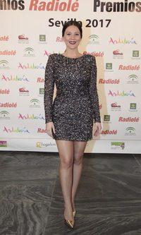 Lorena Gómez brilla con un vestido de lentejuelas