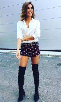 Lara Álvarez impresionante con las botas altas de la temporada