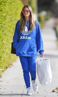 Heidi Klum con un sportive style