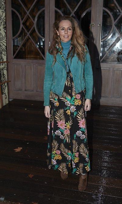 Rocío Carrasco estampada con su look
