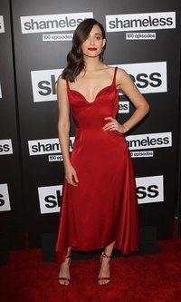 El sensual vestido de Emmy Rossum