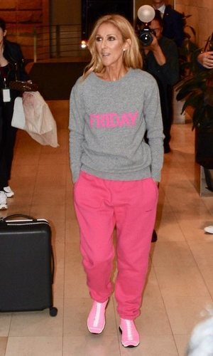 El look de aeropuerto de Celine Dion