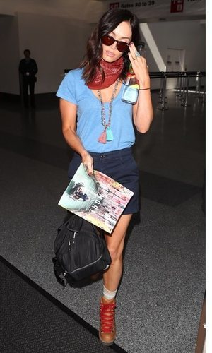El look de aeropuerto de Megan Fox