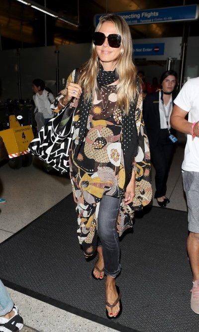 El look casual de Heidi Klum