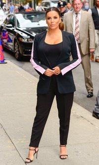 Eva Longoria y su traje de chaqueta