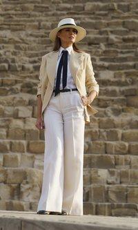Melania Trump y su cambio de outfit radical