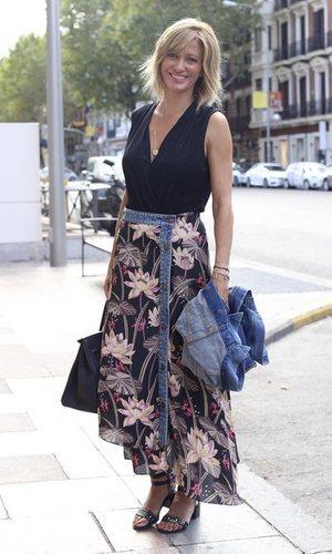 Susanna Griso, outfit denim y floral