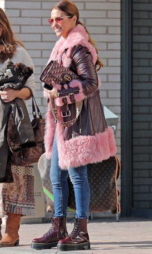 Paula Echevarría también se atreve con los abrigos de pelo