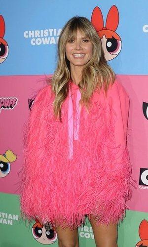 Heidi Klum con un look muy animado
