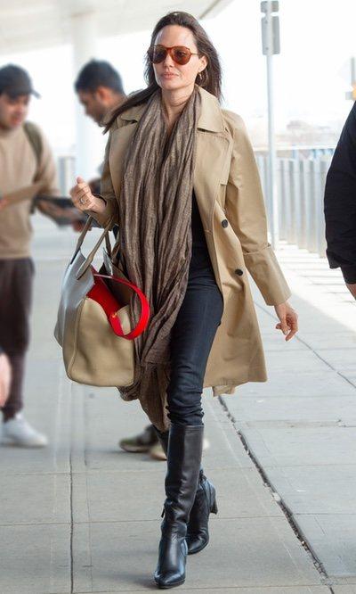 Angelina Jolie, un look casual de diario