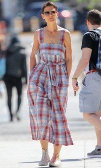 Katie Holmes y su vestido para llevar al campo