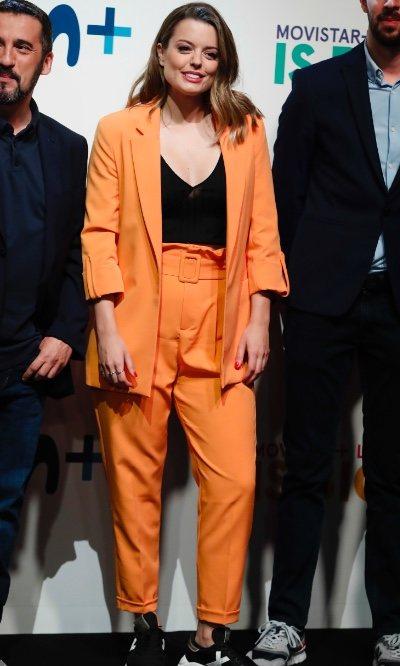 El traje monocolor de lo más explosivo de Adriana Torrebejano