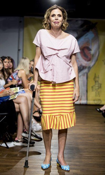 El look más discreto de Agatha Ruiz de la Prada