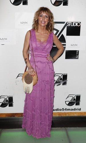 Emma García con un look boho chic