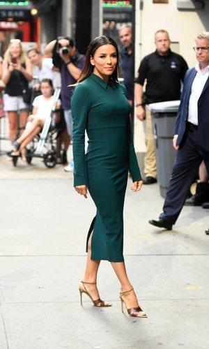 Eva Longoria y el verde que vuelve a estar de moda