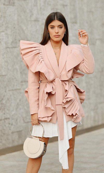 Dulceida apuesta por la moda española en la Milan Fashion Week