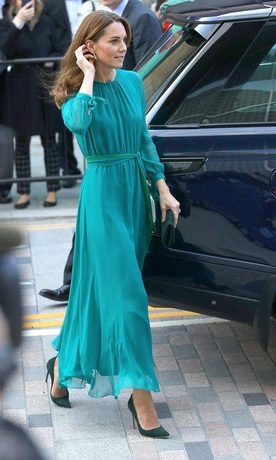 El vestido color esmeralda de Kate Middleton