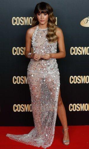 Aitana levanta pasiones con un vestido transparente lleno de brillantes