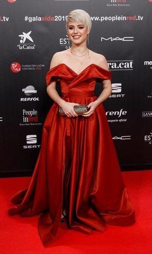 Todo al rojo: el vestido más elegante de Alba Reche